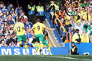 Norwich's Grant Holt's celebrates after scoring the equaliser during the Barclays Premier League match at Stamford Bridge stadium, London...Picture by Paul Chesterton/Focus Images Ltd.  07904 640267.27/8/11