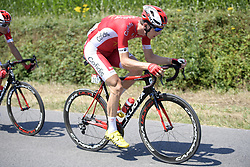 July 10, 2018 - Sarzeau, FRANCE - Belgian Dimitri Claeys of Cofidis pictured in action during the fourth stage of the 105th edition of the Tour de France cycling race, from La Baule to Sarzeau (195km), in France, Tuesday 10 July 2018. This year's Tour de France takes place from July 7th to July 29th. BELGA PHOTO YORICK JANSENS - FRANCE OUT (Credit Image: © Yorick Jansens/Belga via ZUMA Press)