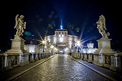 Castel Sant'Angelo in the night, Roma