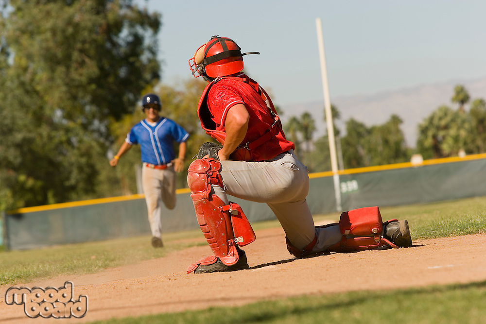 Runner Approaching Catcher