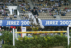 Eriksson Peter, SWE, VDL Cardento<br /> World Equestrian Games Jerez de la Fronteira 2002<br /> Photo © Dirk Caremans