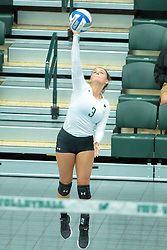 26 August 2017:  Raina Emery during the green-white scrimmage of the Illinois Wesleyan Titans in Shirk Center, Bloomington IL
