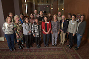 Staff with twenty years of service pose for a portrait during the 48th Annual Classified Staff Service Awards in Baker Center Ballroom on Friday, October 14, 2016.