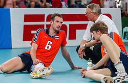 06-10-2002 ARG: World Championships Netherlands - Brasil, Santa Fe<br /> Richard Schuil / NEDERLAND - BRAZILIE 0-3<br /> WORLD CHAMPIONSHIP VOLLEYBALL 2002 ARGENTINA<br /> SANTA FE / 06-10-2002