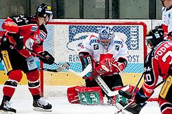 28.09.2013, Zimni Stadion, Zneim, CZE, EBEL, HC Orli Znojmo vs HC TWK Innsbruck, 12. Runde, im Bild Martin Podesva (Znojmo #20) David Bartos (Znojmo #10) Adam Munro (Innsbruck #51) // during the Erste Bank Icehockey League 12th round match betweeen HC Orli Znojmo and HC TWK Innsbruck  at the Zimni Stadium, Znojmo, Czech Republic on 2013/09/28. EXPA Pictures © 2013, PhotoCredit: EXPA/ Rostislav Pfeffer