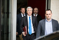 © Licensed to London News Pictures. 02/04/2017. London, UK. Defence Secretary Michael Fallon leaving BBC Broadcasting House after appearing on The Andrew Marr Show this morning. Photo credit : Tom Nicholson/LNP