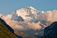 Berner Oberland, Switzerland. Jungfrau panorama as seen from the Hotel Metropole, Interlaken.