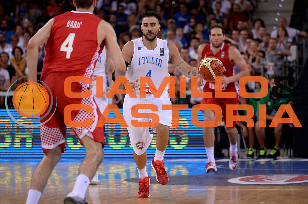 DESCRIZIONE: Torino FIBA Olympic Qualifying Tournament Italia - Croazia<br /> GIOCATORE: Pietro Aradori<br /> CATEGORIA: Nazionale Italiana Italia Maschile Senior<br /> GARA: FIBA Olympic Qualifying Tournament Italia - Croazia<br /> DATA: 05/07/2016<br /> AUTORE: Agenzia Ciamillo-Castoria