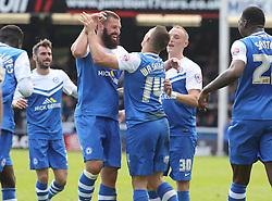 Peterborough United's Connor Washington celebrates scoring the equaliser - Photo mandatory by-line: Joe Dent/JMP - Mobile: 07966 386802 - 25/04/2015 - SPORT - Football - Peterborough - ABAX Stadium - Peterborough United v Crawley Town - Sky Bet League One