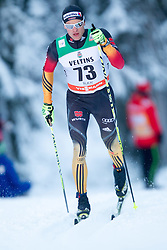 30.11.2014, Nordic Arena, Ruka, FIN, FIS Weltcup Langlauf, Kuusamo, 15 km Herren, im Bild Sebastian Eisenlauer (GER) // Sebastian Eisenlauer of Germany during Mens 15 km Cross Country Race of FIS Nordic Combined World Cup at the Nordic Arena in Ruka, Finland on 2014/11/30. EXPA Pictures © 2014, PhotoCredit: EXPA/ JFK