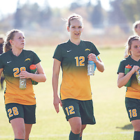 2nd year mid-fielder, Taylor Bubnick (28) of the Regina Cougars during the Women's Soccer away game on Sat Oct 06 at Universtity of Saskatchewan . Credit: Arthur Ward/Arthur Images