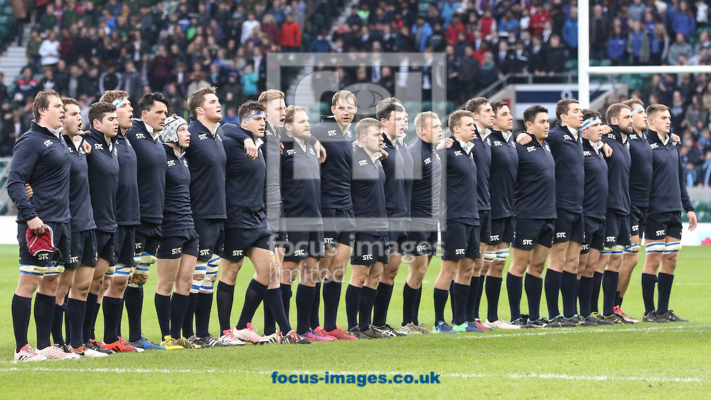 Oxford University  before the start of The Varsity Match at Twickenham Stadium, Twickenham<br /> Picture by Mark Chappell/Focus Images Ltd +44 77927 63340<br /> 08/12/2016