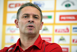 Coach Tone Tiselj at press conference of handball club RK Celje Pivovarna Lasko before new season 2008/2009, on September 2, 2008 in Celje, Slovenia. (Photo by Vid Ponikvar / Sportal Images)