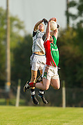 Longwood vs St Marys, A football league division 4 final at Bective GFC, 13/09/14<br /> Nathan O`Neill (Longwood) &amp; Conor Lenihan (St Marys)<br /> Photo: David Mullen / www.cyberimages.net &copy; 2014