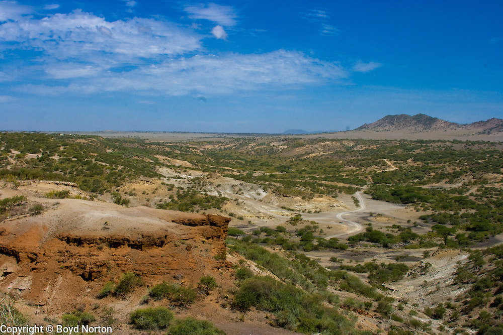 Olduvai (Oldupai) Gorge, Tanzania. Site of Australopithecus and hominid discoveries by Louis and Mary Leakey.