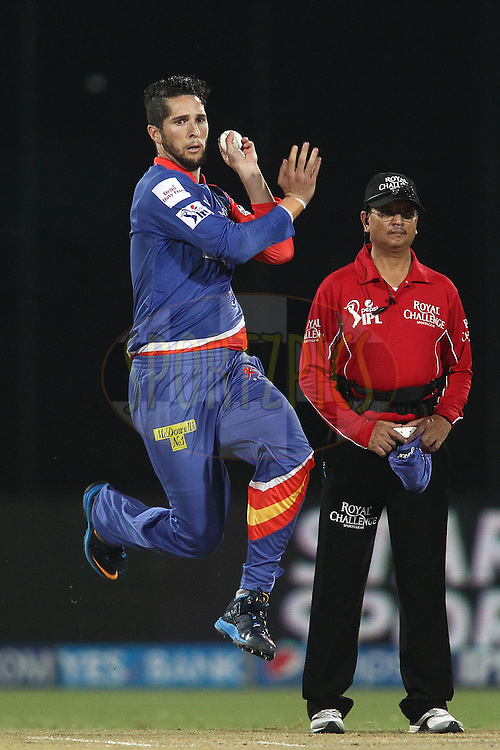 Wayne Parnell of the Delhi Daredevils sends down a delivery during match 26 of the Pepsi Indian Premier League Season 2014 between the Delhi Daredevils and the Chennai Super Kings held at the Feroze Shah Kotla cricket stadium, Delhi, India on the 5th May  2014<br /> <br /> Photo by Shaun Roy / IPL / SPORTZPICS<br /> <br /> <br /> <br /> Image use subject to terms and conditions which can be found here:  http://sportzpics.photoshelter.com/gallery/Pepsi-IPL-Image-terms-and-conditions/G00004VW1IVJ.gB0/C0000TScjhBM6ikg