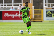Forest Green Rovers James Morton(15) on the ball during the Pre-Season Friendly match between Bath City and Forest Green Rovers at Twerton Park, Bath, United Kingdom on 27 July 2019.