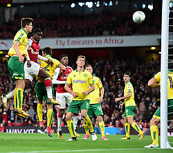 Edward Nketiah of Arsenal scores to make it 2-1 - Mandatory by-line: Alex James/JMP - 24/10/2017 - FOOTBALL - Emirates Stadium - London, England - Arsenal v Norwich City - Carabao Cup