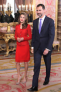 042213 prince felipe and princess letizia Host 'Cervantes Awards 2013' Lunch in Madri