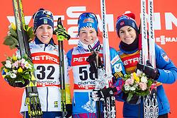 Charlotte Kalla (SWE), Krista Parmakoski (FIN) and Heidi Weng (NOR) during FIS Cross-Country World Cup Planica 2018, on January 21, 2018 in Planica, Kranjska Gora, Slovenia. Photo by Ziga Zupan / Sportida