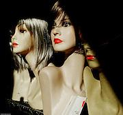 Milan, wigs shopwindow