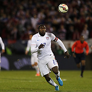 Jozy Altidore, USA, in action during the USA Vs Ecuador International match at Rentschler Field, Hartford, Connecticut. USA. 10th October 2014. Photo Tim Clayton