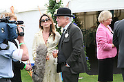 Nicky Haslam and Colette van den Thillart, Cartier International Polo. Guards Polo Club. Windsor Great Park. 29 July 2007.  -DO NOT ARCHIVE-© Copyright Photograph by Dafydd Jones. 248 Clapham Rd. London SW9 0PZ. Tel 0207 820 0771. www.dafjones.com.