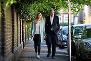 UNITED KINGDOM, London:  British Conservative politician and mayoral candidate Zac Goldsmith and his wife Alice Miranda Rothschild arrive at a polling station in West London to vote for the London mayoral election in London, on May 5, 2016. Pic by Andrew Cowie / Story Picture Agency