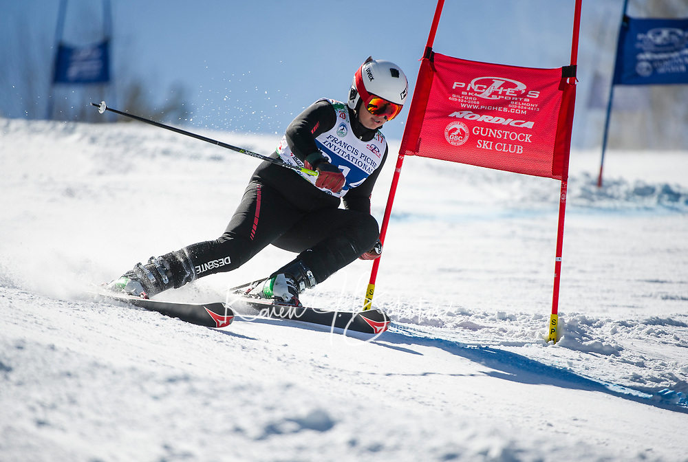 Francis Piche Invitational GS U14 mens second fun with Gunstock Ski Club.  ©2017 Karen Bobotas Photographer