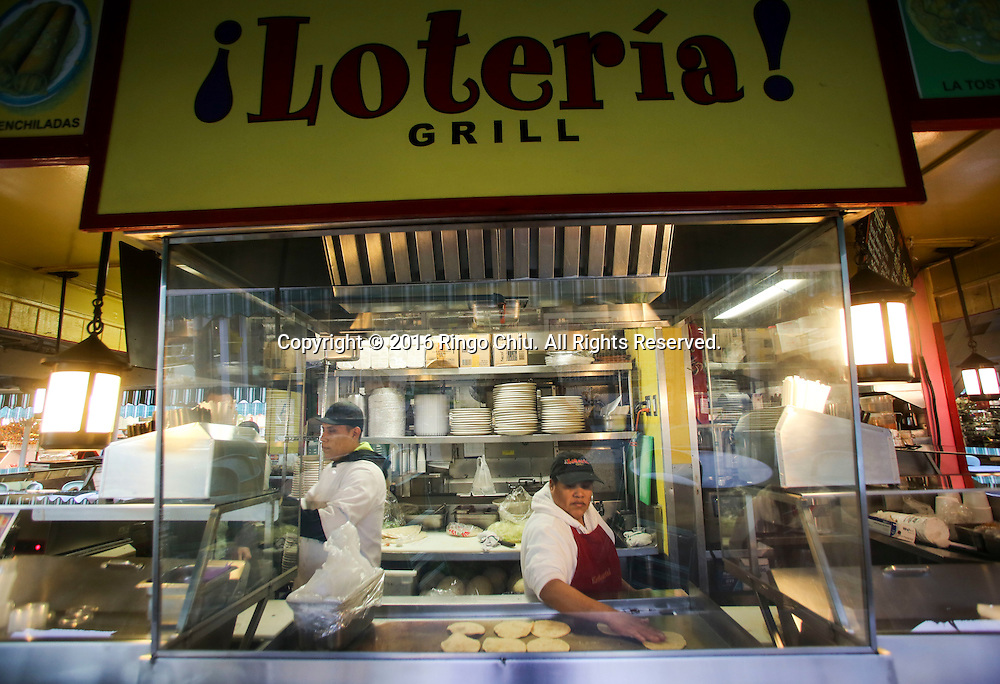 Loteria Grill at Farmer Market in Los Angeles.(Photo by Ringo Chiu/PHOTOFORMULA.com)<br /> <br /> Usage Notes: This content is intended for editorial use only. For other uses, additional clearances may be required.
