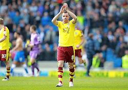 Dean Marney of Burnley applauds the fans after the match - Mandatory by-line: Paul Terry/JMP - 02/04/2016 - FOOTBALL - Amex Stadium - Brighton, England - Brighton and Hove Albion v Burnley - Sky Bet Championship