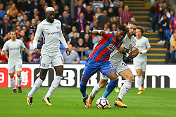 Wilfried Zaha of Crystal Palace on the attack - Mandatory by-line: Jason Brown/JMP - 14/10/2017 - FOOTBALL - Selhurst Park - London, England - Crystal Palace v Chelsea - Premier League