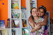 Márcia Cavalcante (left) and Janaira. Márcia is the founder and director of Cirandar and organisation that is working in partnership with C&A and C&A Instituto to implement a network of Community Libraries in eight communities of Porto Alegre, Brazil.