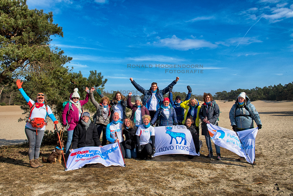 18-03-2018 NED: We hike to change diabetes, Soest<br /> Training voor de Camino 2018 op de Soesterduinen / Team Nederland