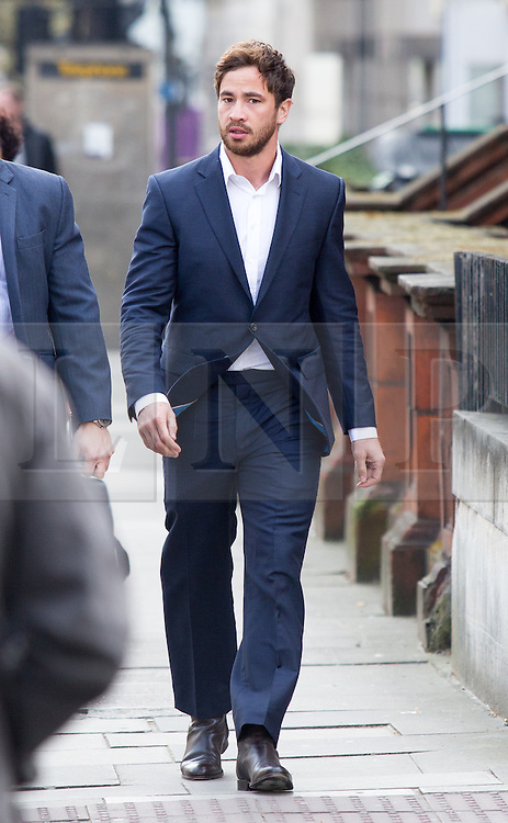 © Licensed to London News Pictures. 16/04/2016. London, UK. Danny Cipriani arrives at Westminster Magistrates court on drink driving charge. The Sale Sharks player was charged after a collision between his Mercedes and a Toyota in the Chelsea area of west London shortly after 5am on June 1. Photo credit : Tom Nicholson/LNP