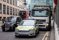 © Licensed to London News Pictures. 15/08/2018. London, UK. Emergency services at the scene of a reported acid attack near Chancery Lane station in London. Photo credit: Rob Pinney/LNP