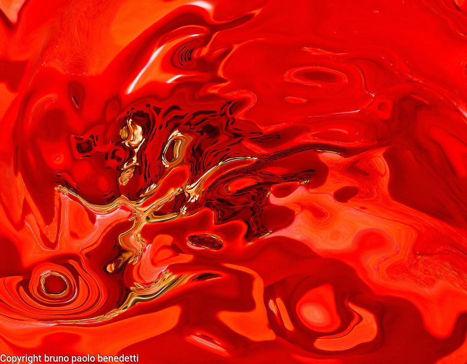 Abstract shades in deep red color with many tones of yellow and black.
