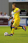 AFC Wimbledon midfielder Dean Parrett (18) during the Pre-Season Friendly match between Dover Athletic and AFC Wimbledon at Crabble Athletic Ground, Dover, United Kingdom on 12 July 2016. Photo by Stuart Butcher.
