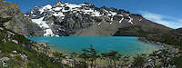 Turquoise Lake Panorama. Equitrecking and Hike Destination Estancia Helsingfors, Glacier National Park.