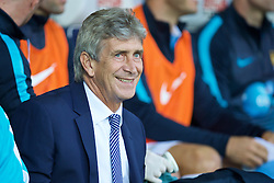 WEST BROMWICH, ENGLAND - Monday, August 10, 2015: Manchester City's manager Manuel Pellegrini before the Premier League match against West Bromwich Albion at the Hawthorns. (Pic by David Rawcliffe/Propaganda)