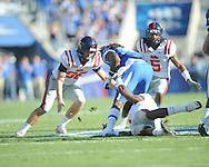 Ole Miss' Andrew Ritter (96) vs. Kentucky at Commonwealth Stadium in Lexington, Ky. on Saturday, November 5, 2011. Kentucky won 30-13...