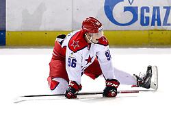 Andrei Kuzmenko of CSKA Moscow before KHL League ice hockey match between KHL Medvescak Zagreb and CSKA Moscow, on November 16, 2015 in Dvorana Sportova, Zagreb, Croatia. (Photo By Matic Klansek Velej / Sportida)