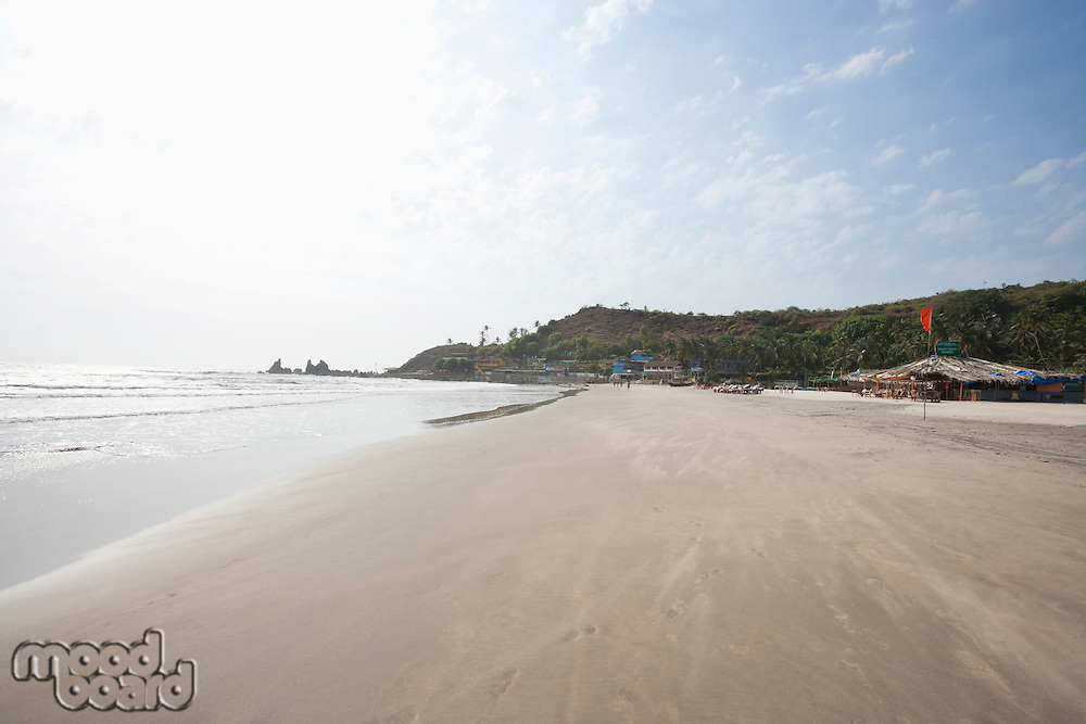 Anjuna beach at Goa, India
