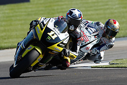28.08.2010, Motor Speedway, Indianapolis, USA, MotoGP, Red Bull Indianapolis Grand Prix, im Bild Ben Spies - Monster Tech 3 Yamaha team and Jorge Lorenzo - Fiat Yamaha team, EXPA Pictures © 2010, PhotoCredit: EXPA/ InsideFoto/ Semedia *** ATTENTION *** FOR AUSTRIA AND SLOVENIA USE ONLY!