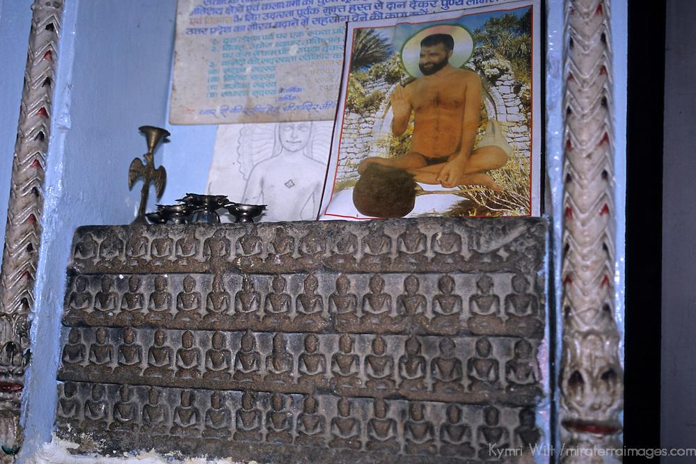 Asia, India, Sarnath. Interior of Jain Temple at Sarnath.