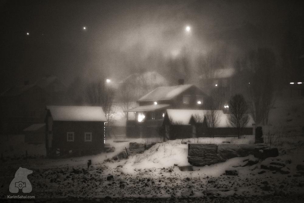 Arctic winter, Bergsfjord, Finnmark, Norway.