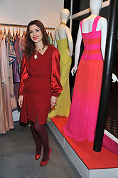 LARA BOHINC at a dinner hosted by Carmen Haid at Atelier Mayer, 47 Kendal Street, London W2 on 21st February 2012.