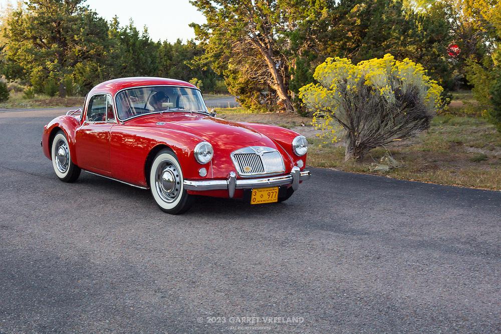 1958 MGA 1500 Coupe, 2012 Santa Fe Concorso High Mountain Tour.