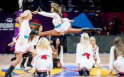 Cheerleaders Red Foxes perform during basketball match between National Teams of Serbia and Hungary at Day 11 in Round of 16 of the FIBA EuroBasket 2017 at Sinan Erdem Dome in Istanbul, Turkey on September 10, 2017. Photo by Vid Ponikvar / Sportida