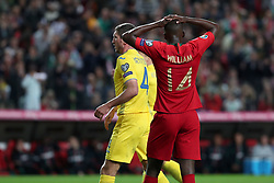 March 22, 2019 - Lisbon, Portugal - Portugal's midfielder William Carvalho reacts during the UEFA EURO 2020 group B qualifying football match Portugal vs Ukraine, at the Luz Stadium in Lisbon, Portugal, on March 22, 2019. (Credit Image: © Pedro Fiuza/ZUMA Wire)